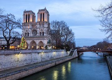 Notre Dame Cathedral at Christmas, Paris