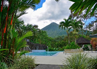 View of Arenal Volcano from Lomas del Volcan