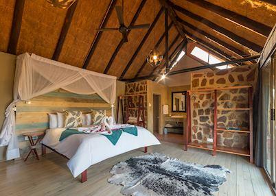 The hide-away chalet at Masuwe Lodge