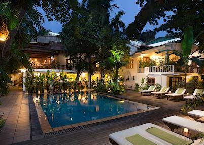 Pool area at Villa Langka