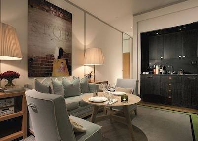 Living room of suite, Portrait Roma, Rome