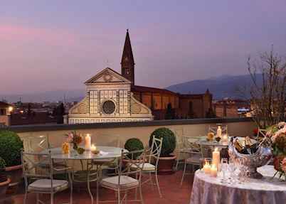 Roof terrace, Hotel Santa Maria Novella, Florence