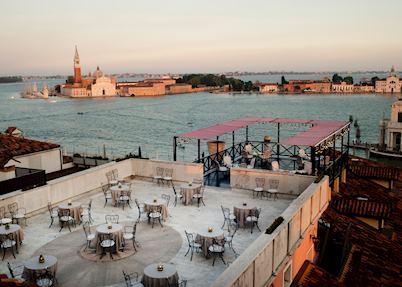 Settimo Cielo breakfast terrace, Bauer Palazzo, Venice