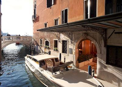 Private water entrance, Hotel Danieli, Venice
