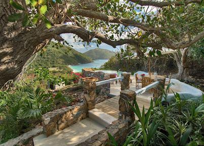 Anegada House Pool Terrace, Guana Island, Guana Island
