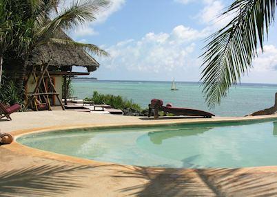 Pool and view, Matemwe Bungalows