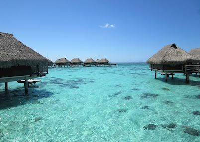 Overwater Bunaglows at Hilton Moorea Lagoon Resort & Spa