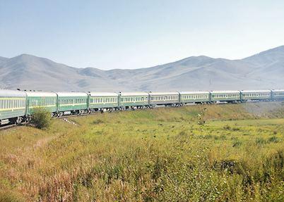 Trans-Mongolian train between Ulaan Batar and Beijing