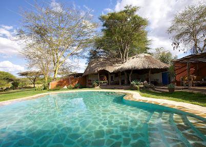 Pool area at Lewa Safari Camp