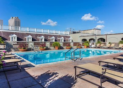 Rooftop pool at Omni Royal Orleans