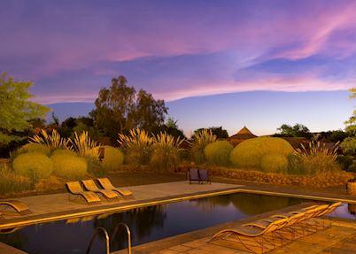 The pool at Hotel Altiplanico Atacama