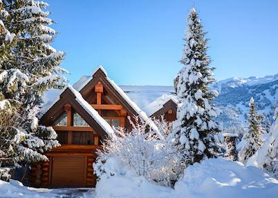 Totem Chalet in winter