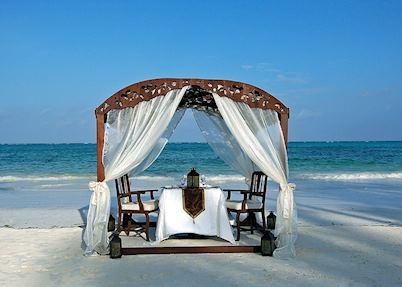Beach dining at The Palms, Zanzibar Island