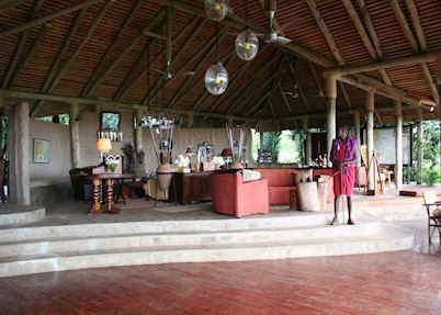 Lounge area, Bateleur Camp