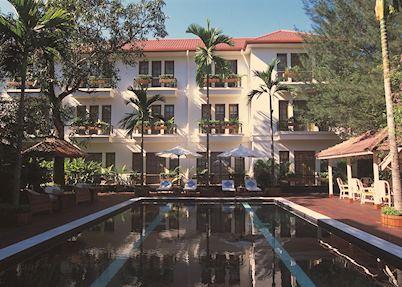 The swimming pool at the Savoy Hotel, Yangon