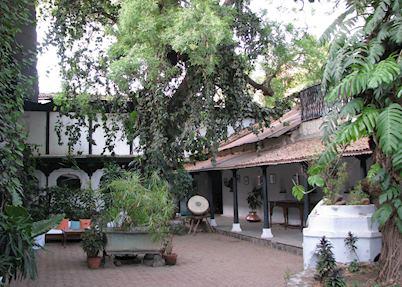 The main courtyard, Ahilya Fort