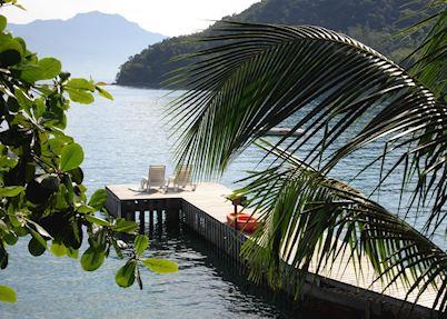 The pier at Sagu Mini Resort, Ilha Grande