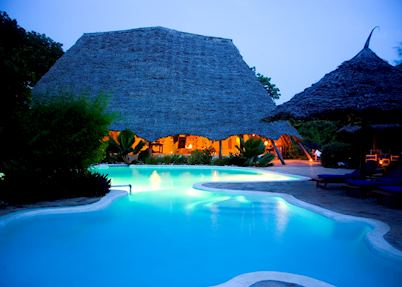 The pool at Unguja Lodge, Zanzibar Island