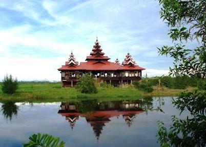 The traditional restaurant at Mrauk U Princess, Mrauk U