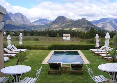 Pool at La Cabriere, Franschhoek