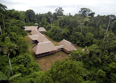 Tambopata Research Centre from above