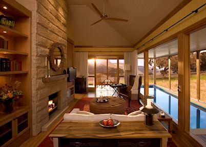 Wolgan Suite Living Area, Wolgan Valley Resort & Spa, Blue Mountains