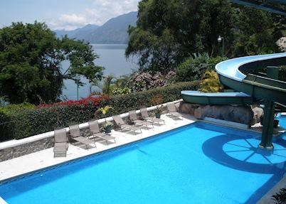 Swimming pool, Posada de Don Rodrigo, Lake Atitlan
