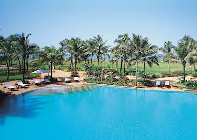 Swimming pool at the Taj Exotica, South Goa