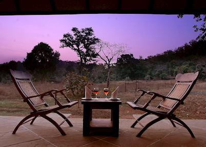Cottages at Kings Lodge with a private sit out, Bandhavgarh National park