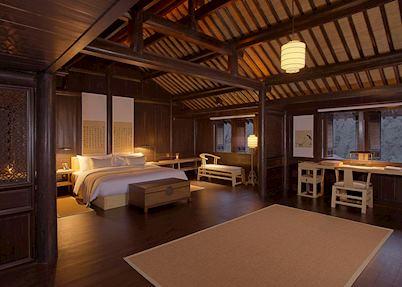Villa bedroom, Amanfayun, Hangzhou