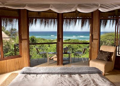 View from your room at Thonga Beach Lodge