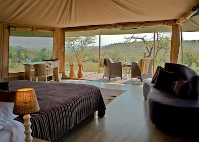 View from your tent, Kicheche Naboisho Camp, Masai Mara