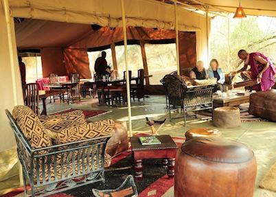 Mess tent at Porini Amboseli Camp, Amboseli National Park