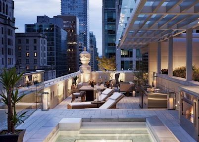 Outdoor space at The Rosewood Hotel Georgia,Vancouver