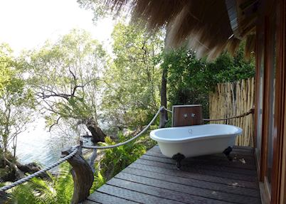 Luxury safari tent, Mukambi Safari Lodge, Kafue National Park