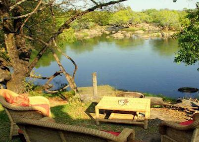 Family chalet garden area,Kaingu Safari Lodge,Kafue National Park