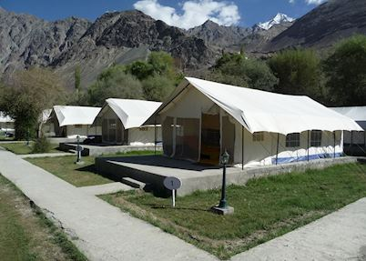 Deluxe tents, Desert Himalaya, Nubra Valley