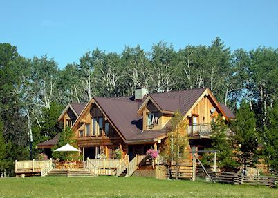 The ranch house, Siwash Lake Wilderness Resort, 70 Mile House
