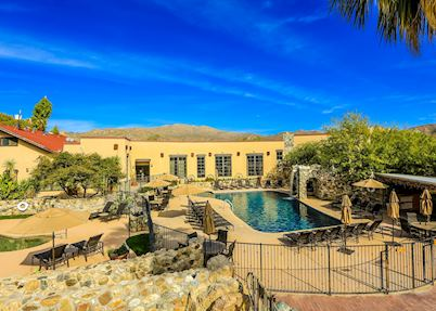 The swimming pool at Tanque Verde Ranch, Tucson