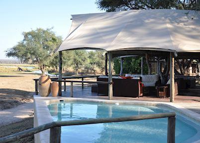 Main Lounge and Pool, Anabezi Camp, Lower Zambezi National Park