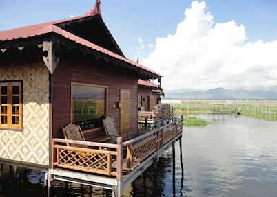 Stilted chalets at Ann Heritage Lodge