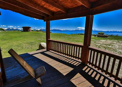 View from the Puffin Log Cabin, Kenai Peninsula Suites, Homer