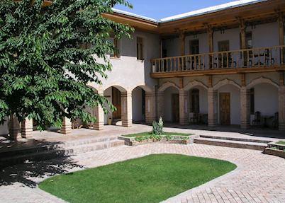 Courtyard at the Hotel Malika, Samarkand