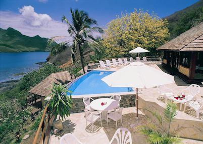 The pool at Keikahanui Pearl Lodge, Nuku Hiva