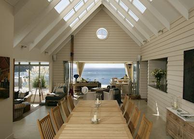 The dining room, The Boatshed, Waiheke Island