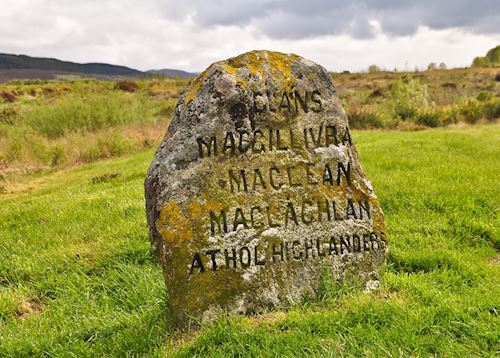 Jacobite gravestone at Culloden