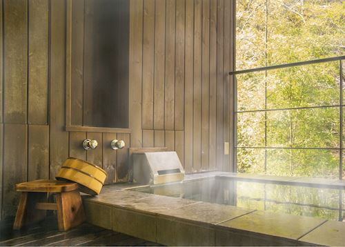 Typical hot spring or onsen