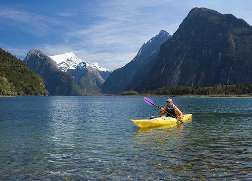 Sea Kayaking on  Milford Sound