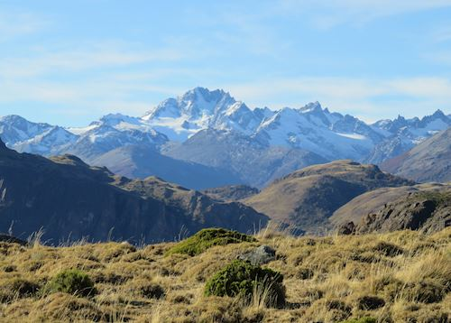 Snow-capped mountains in Parque Patagonia, Aisen