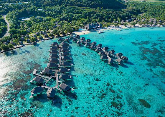 Aerial View Sofitel Moorea Ia Ora Beach Resort